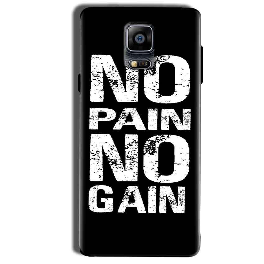 Samsung Galaxy Note 4 Mobile Covers Cases No Pain No Gain Black And White - Lowest Price - Paybydaddy.com