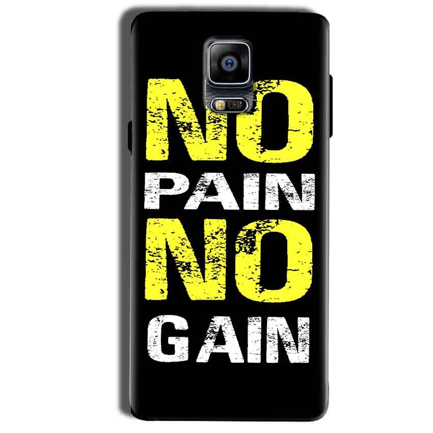 Samsung Galaxy Note 4 Mobile Covers Cases No Pain No Gain Yellow Black - Lowest Price - Paybydaddy.com