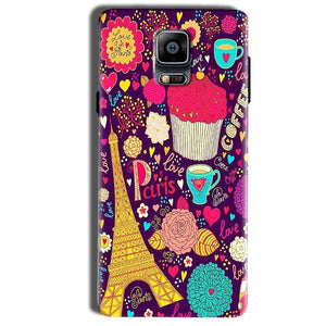 Samsung Galaxy Note 4 Mobile Covers Cases Paris Sweet love - Lowest Price - Paybydaddy.com