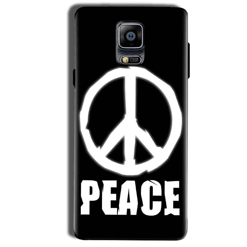 Samsung Galaxy Note 4 Mobile Covers Cases Peace Sign In White - Lowest Price - Paybydaddy.com
