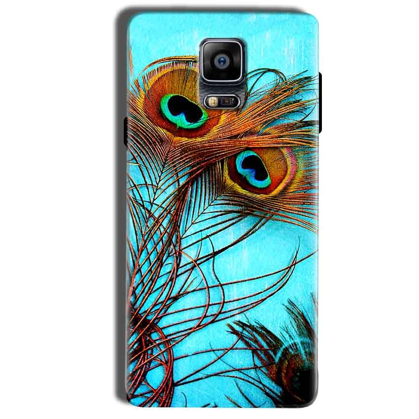 Samsung Galaxy Note 4 Mobile Covers Cases Peacock blue wings - Lowest Price - Paybydaddy.com