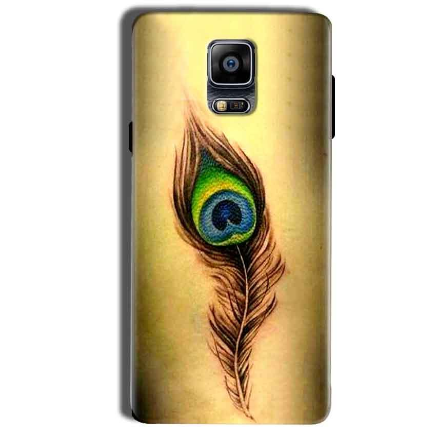 Samsung Galaxy Note 4 Mobile Covers Cases Peacock coloured art - Lowest Price - Paybydaddy.com
