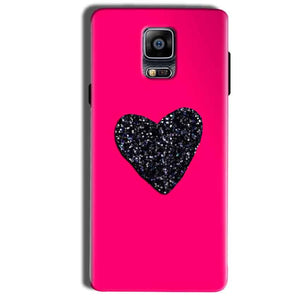 Samsung Galaxy Note 4 Mobile Covers Cases Pink Glitter Heart - Lowest Price - Paybydaddy.com