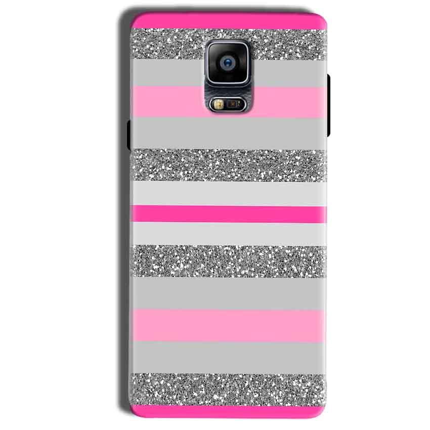 Samsung Galaxy Note 4 Mobile Covers Cases Pink colour pattern - Lowest Price - Paybydaddy.com