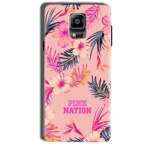 Samsung Galaxy Note 4 Mobile Covers Cases Pink nation - Lowest Price - Paybydaddy.com