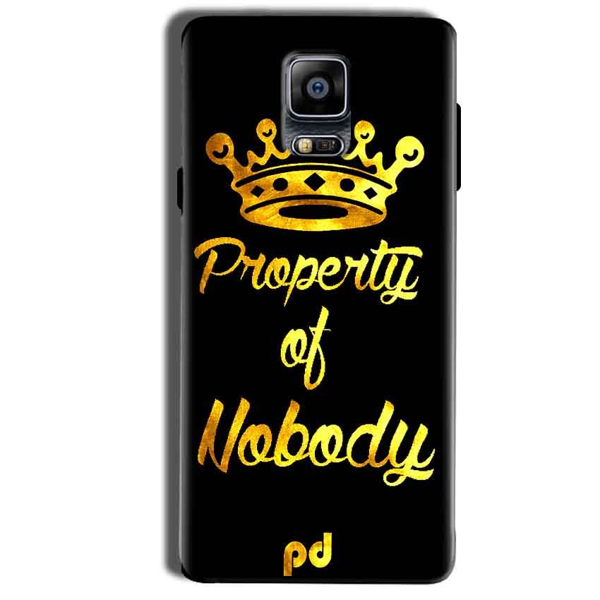 Samsung Galaxy Note 4 Mobile Covers Cases Property of nobody with Crown - Lowest Price - Paybydaddy.com