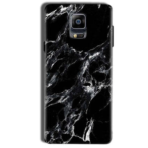 Samsung Galaxy Note 4 Mobile Covers Cases Pure Black Marble Texture - Lowest Price - Paybydaddy.com