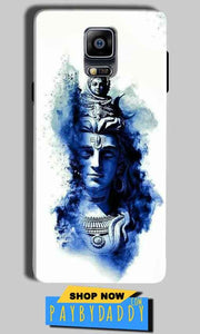 Samsung Galaxy Note 4 Mobile Covers Cases Shiva Blue White - Lowest Price - Paybydaddy.com