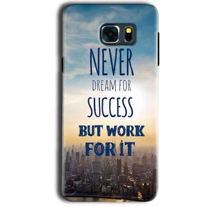 Samsung Galaxy Note 5 Mobile Covers Cases Never Dreams For Success But Work For It Quote - Lowest Price - Paybydaddy.com