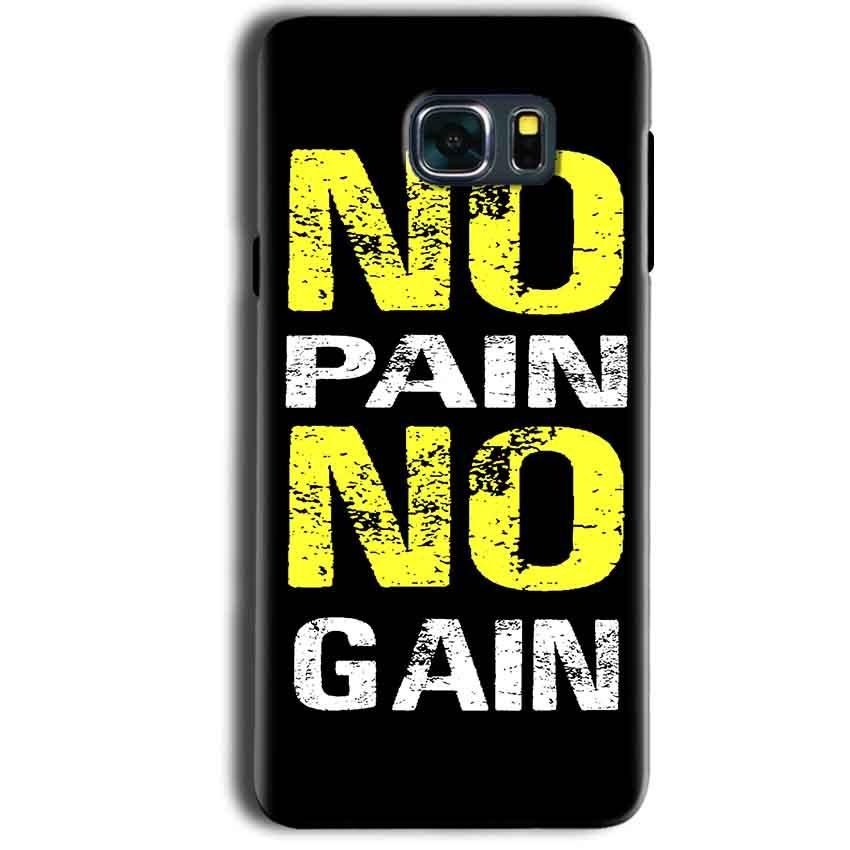Samsung Galaxy Note 5 Mobile Covers Cases No Pain No Gain Yellow Black - Lowest Price - Paybydaddy.com