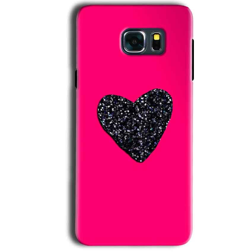Samsung Galaxy Note 5 Mobile Covers Cases Pink Glitter Heart - Lowest Price - Paybydaddy.com