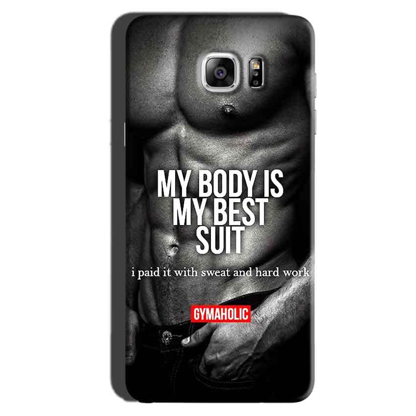 Samsung Galaxy Note 6 Mobile Covers Cases My Body is my best suit - Lowest Price - Paybydaddy.com