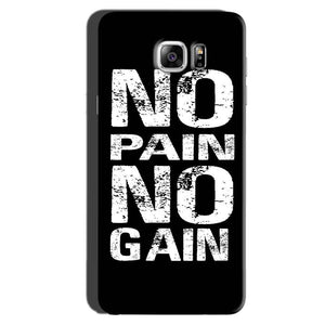 Samsung Galaxy Note 6 Mobile Covers Cases No Pain No Gain Black And White - Lowest Price - Paybydaddy.com
