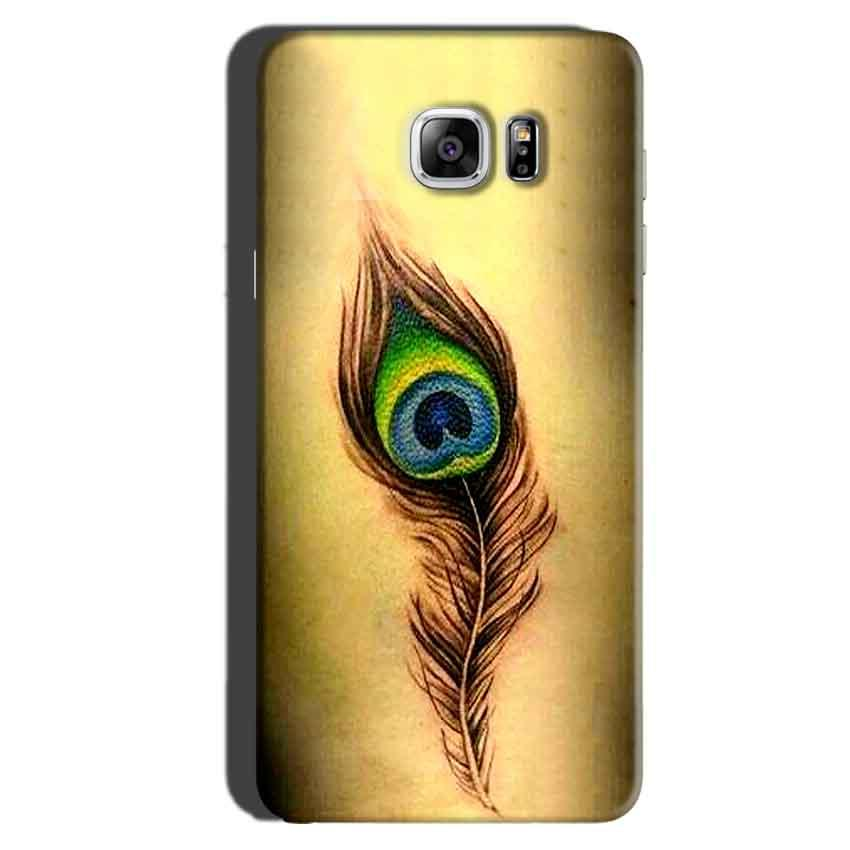 Samsung Galaxy Note 6 Mobile Covers Cases Peacock coloured art - Lowest Price - Paybydaddy.com