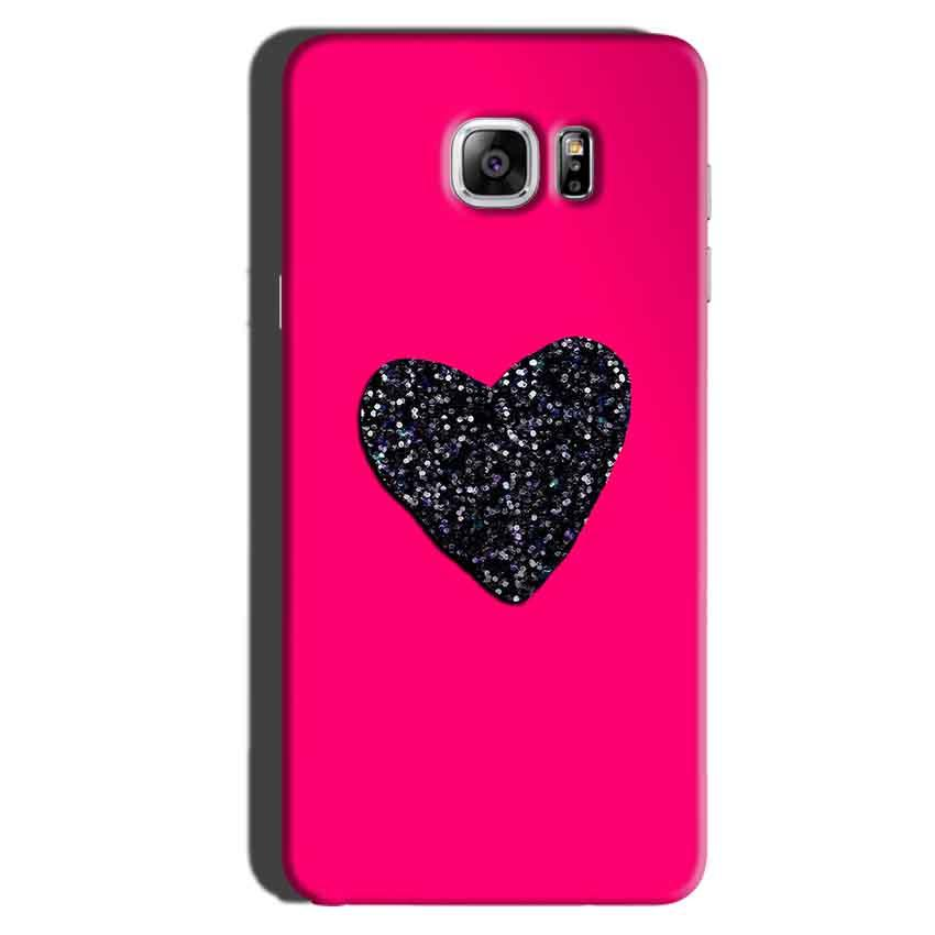 Samsung Galaxy Note 6 Mobile Covers Cases Pink Glitter Heart - Lowest Price - Paybydaddy.com