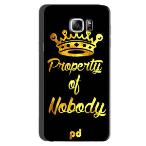 Samsung Galaxy Note 6 Mobile Covers Cases Property of nobody with Crown - Lowest Price - Paybydaddy.com