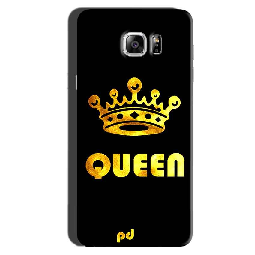 Samsung Galaxy Note 6 Mobile Covers Cases Queen With Crown in gold - Lowest Price - Paybydaddy.com
