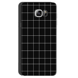 Samsung Galaxy Note 7 Mobile Covers Cases Black with White Checks - Lowest Price - Paybydaddy.com