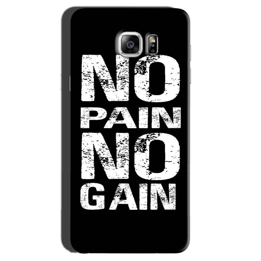 Samsung Galaxy Note 7 Mobile Covers Cases No Pain No Gain Black And White - Lowest Price - Paybydaddy.com
