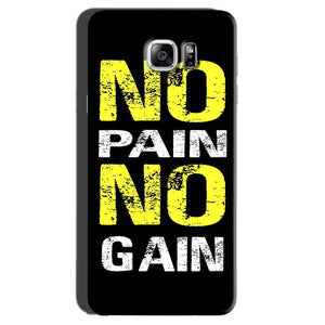 Samsung Galaxy Note 7 Mobile Covers Cases No Pain No Gain Yellow Black - Lowest Price - Paybydaddy.com