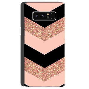 Samsung Galaxy Note 8 Mobile Covers Cases Black down arrow Pattern - Lowest Price - Paybydaddy.com