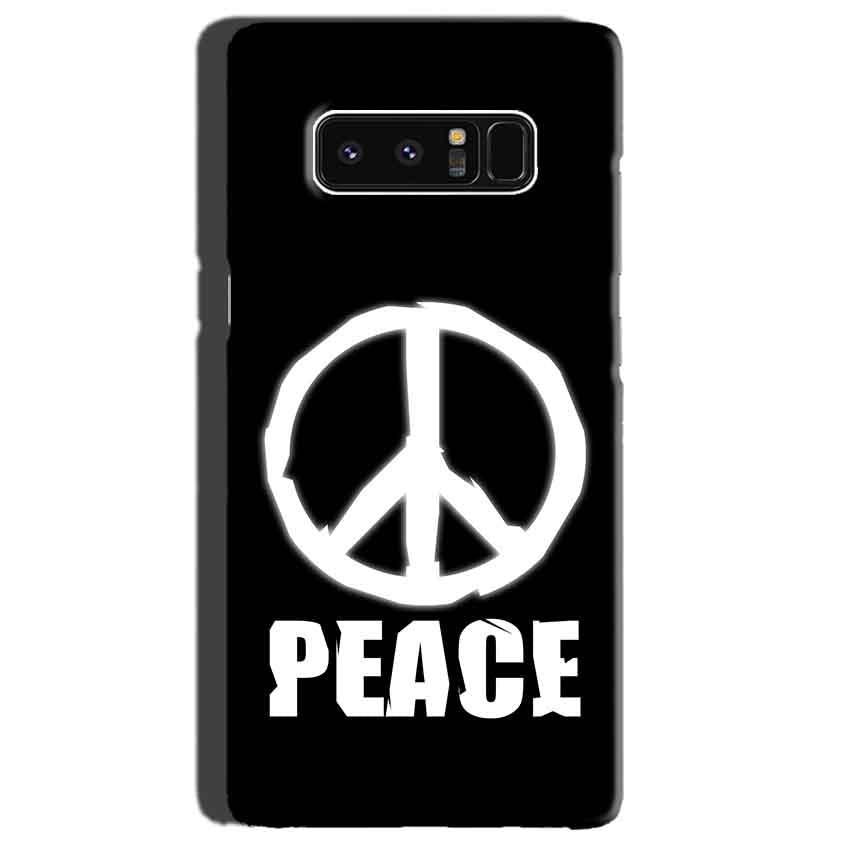 Samsung Galaxy Note 8 Mobile Covers Cases Peace Sign In White - Lowest Price - Paybydaddy.com