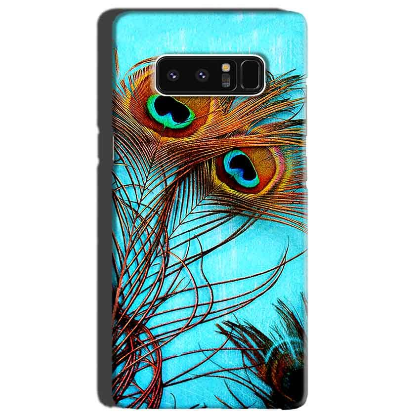 Samsung Galaxy Note 8 Mobile Covers Cases Peacock blue wings - Lowest Price - Paybydaddy.com