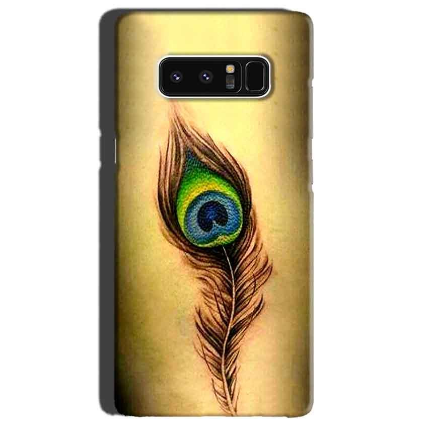 Samsung Galaxy Note 8 Mobile Covers Cases Peacock coloured art - Lowest Price - Paybydaddy.com