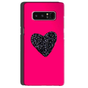 Samsung Galaxy Note 8 Mobile Covers Cases Pink Glitter Heart - Lowest Price - Paybydaddy.com