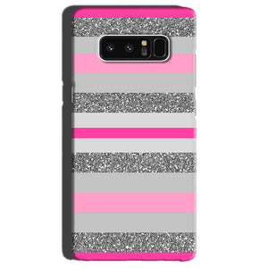 Samsung Galaxy Note 8 Mobile Covers Cases Pink colour pattern - Lowest Price - Paybydaddy.com