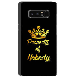 Samsung Galaxy Note 8 Mobile Covers Cases Property of nobody with Crown - Lowest Price - Paybydaddy.com