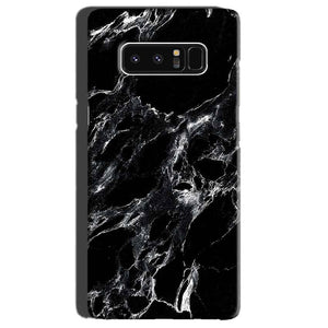 Samsung Galaxy Note 8 Mobile Covers Cases Pure Black Marble Texture - Lowest Price - Paybydaddy.com