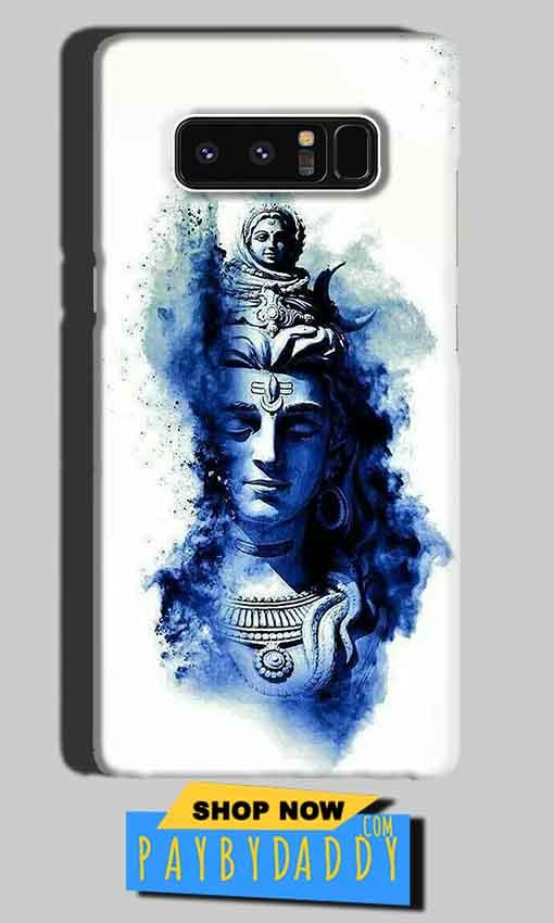 Samsung Galaxy Note 8 Mobile Covers Cases Shiva Blue White - Lowest Price - Paybydaddy.com