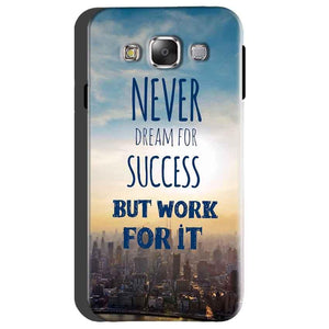 Samsung Galaxy On5 Mobile Covers Cases Never Dreams For Success But Work For It Quote - Lowest Price - Paybydaddy.com