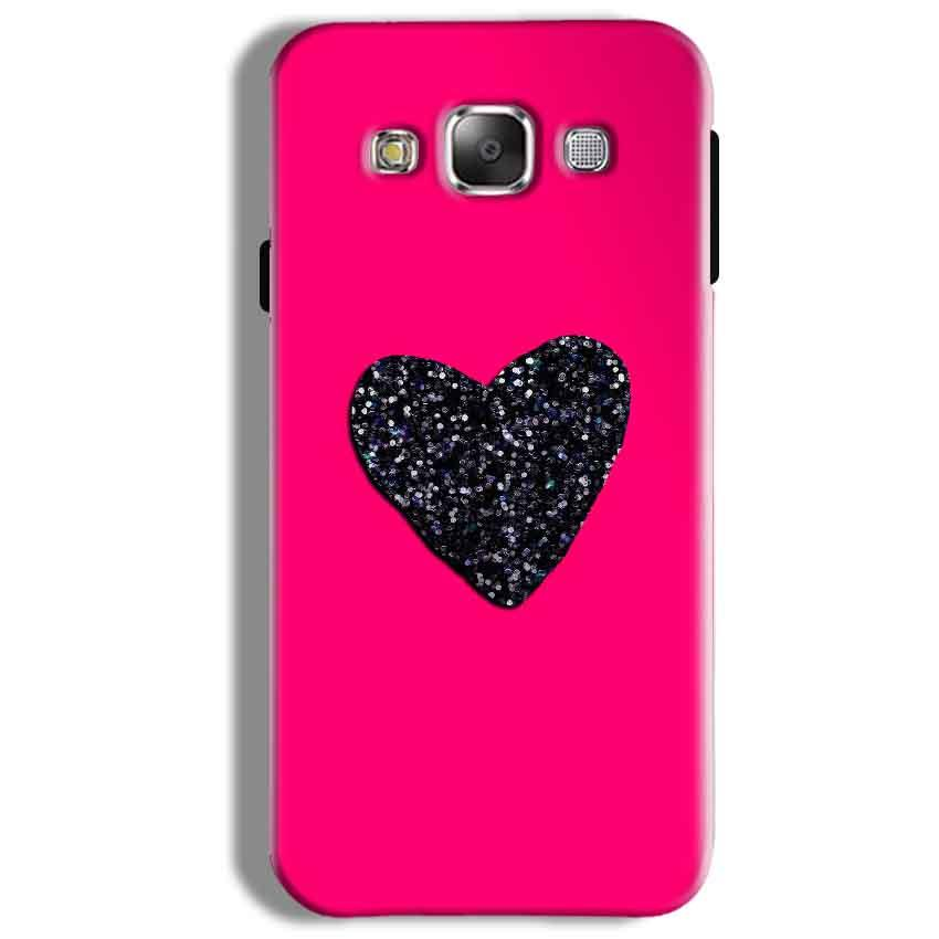 Samsung Galaxy On5 Pro Mobile Covers Cases Pink Glitter Heart - Lowest Price - Paybydaddy.com