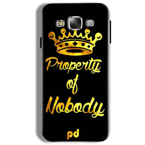 Samsung Galaxy On5 Pro Mobile Covers Cases Property of nobody with Crown - Lowest Price - Paybydaddy.com