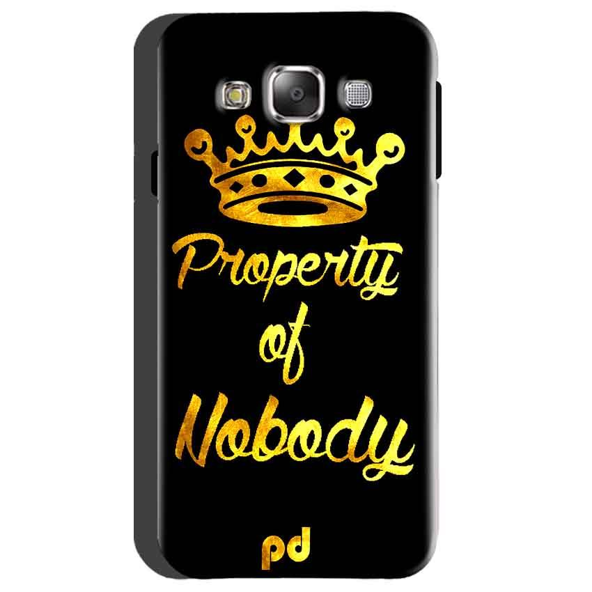 Samsung Galaxy On5 Mobile Covers Cases Property of nobody with Crown - Lowest Price - Paybydaddy.com