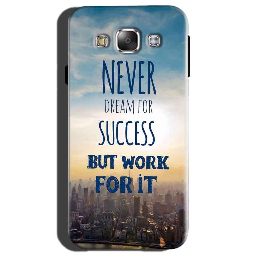 Samsung Galaxy On7 Mobile Covers Cases Never Dreams For Success But Work For It Quote - Lowest Price - Paybydaddy.com