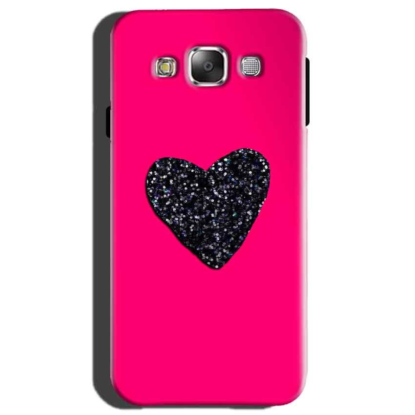 Samsung Galaxy On7 Mobile Covers Cases Pink Glitter Heart - Lowest Price - Paybydaddy.com