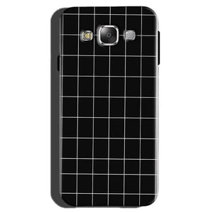 Samsung Galaxy On7 Pro Mobile Covers Cases Black with White Checks - Lowest Price - Paybydaddy.com