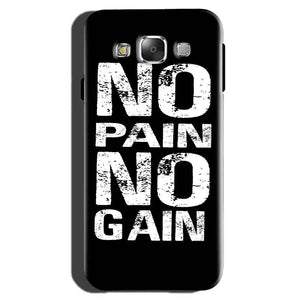 Samsung Galaxy On7 Pro Mobile Covers Cases No Pain No Gain Black And White - Lowest Price - Paybydaddy.com