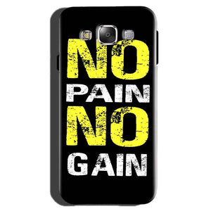 Samsung Galaxy On7 Pro Mobile Covers Cases No Pain No Gain Yellow Black - Lowest Price - Paybydaddy.com