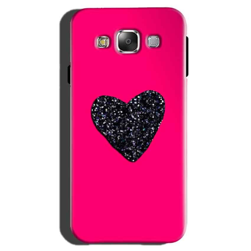 Samsung Galaxy On7 Pro Mobile Covers Cases Pink Glitter Heart - Lowest Price - Paybydaddy.com