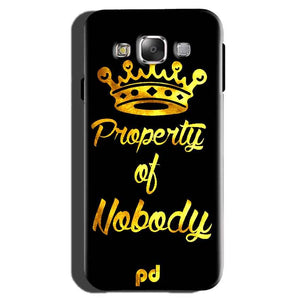 Samsung Galaxy On7 Pro Mobile Covers Cases Property of nobody with Crown - Lowest Price - Paybydaddy.com