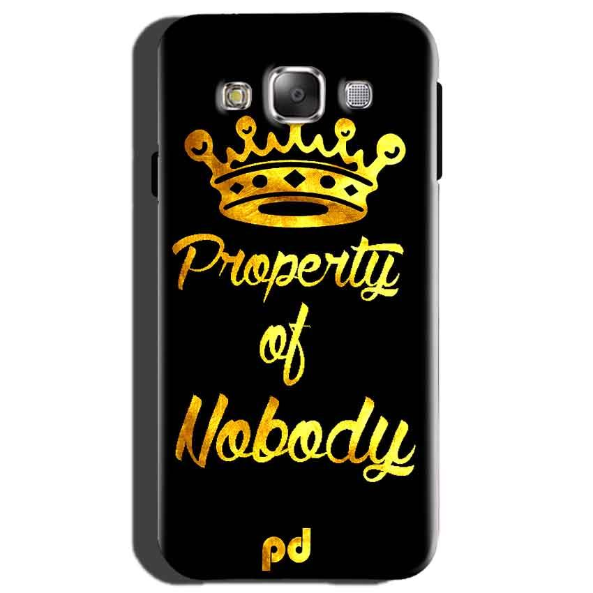 Samsung Galaxy On7 Mobile Covers Cases Property of nobody with Crown - Lowest Price - Paybydaddy.com