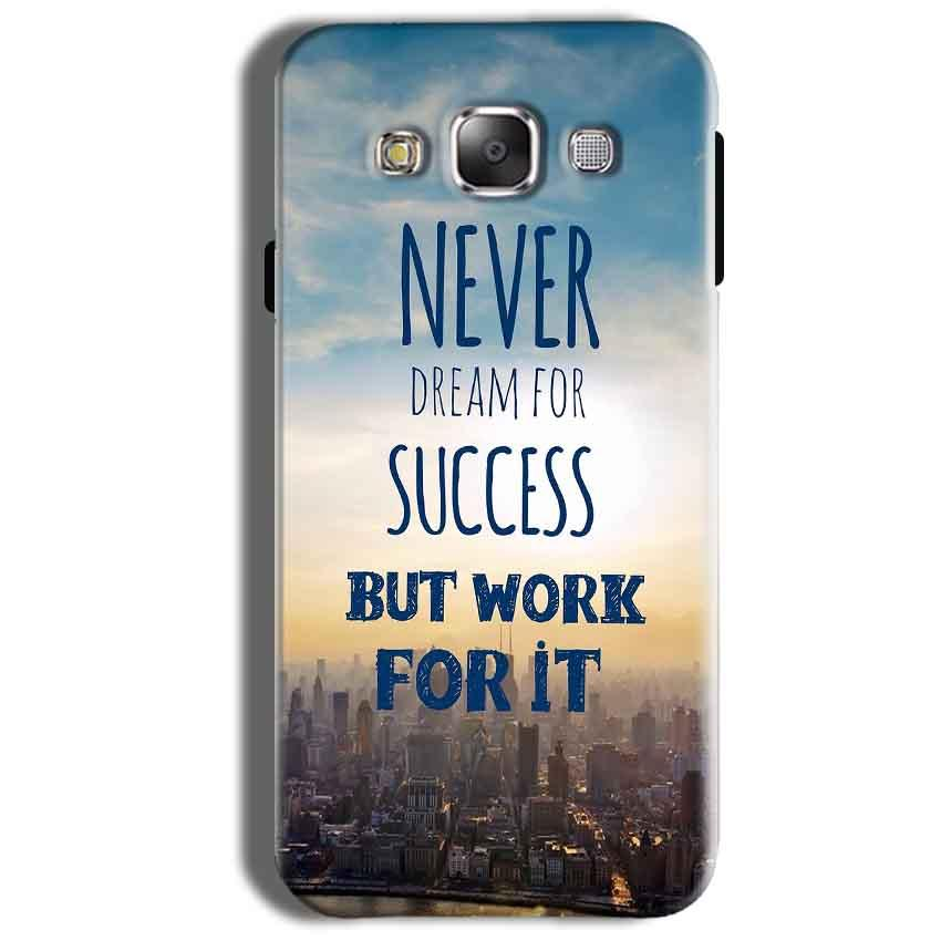 Samsung Galaxy On8 Mobile Covers Cases Never Dreams For Success But Work For It Quote - Lowest Price - Paybydaddy.com