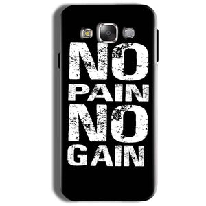 Samsung Galaxy On8 Mobile Covers Cases No Pain No Gain Black And White - Lowest Price - Paybydaddy.com
