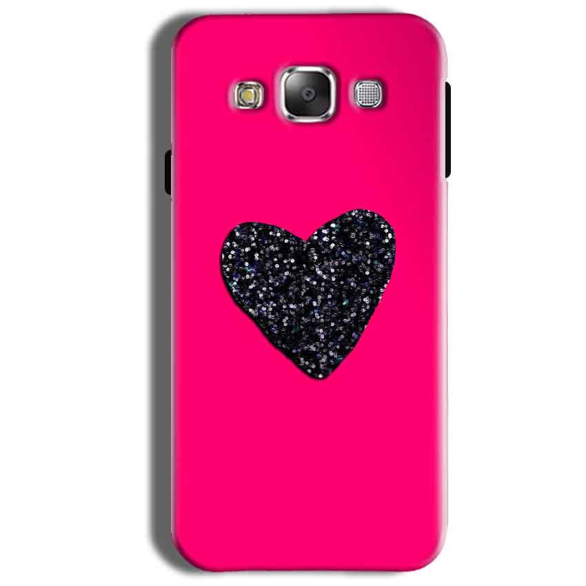 Samsung Galaxy On8 Mobile Covers Cases Pink Glitter Heart - Lowest Price - Paybydaddy.com