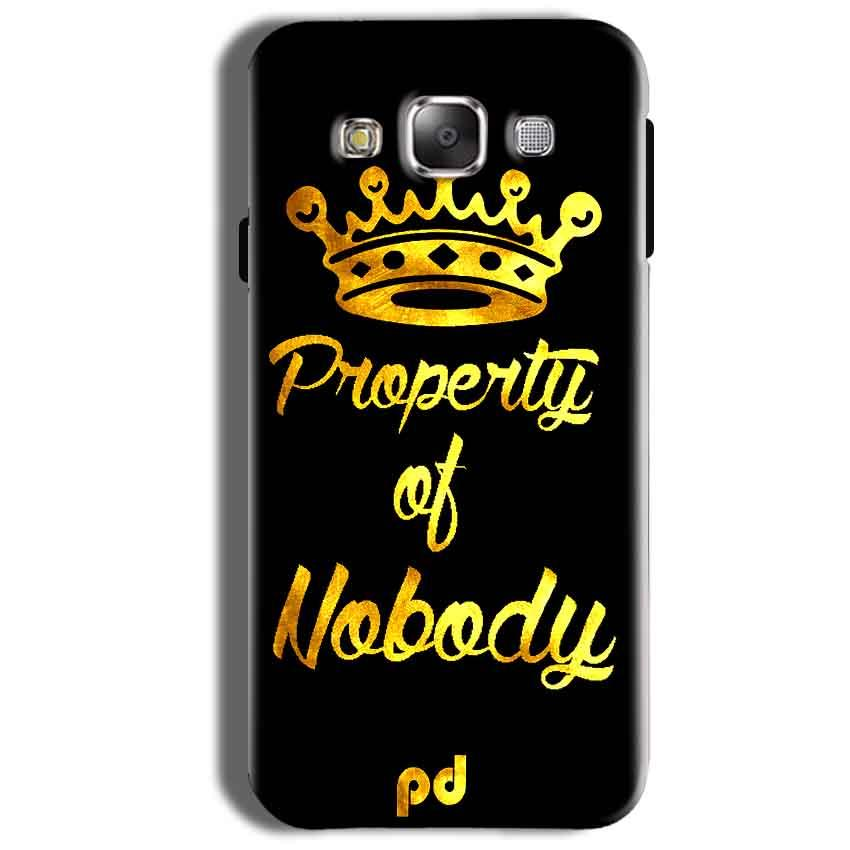 Samsung Galaxy On8 Mobile Covers Cases Property of nobody with Crown - Lowest Price - Paybydaddy.com