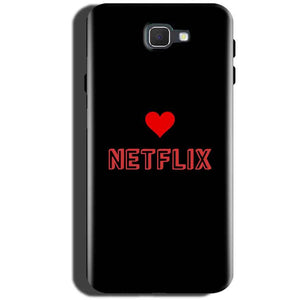 Samsung Galaxy On Max Mobile Covers Cases NETFLIX WITH HEART - Lowest Price - Paybydaddy.com